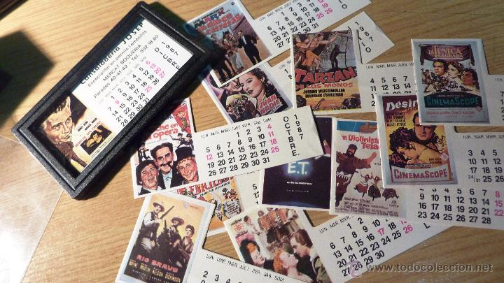 CURIOSO PEQUEÑO CALENDARIO 12 FOTOS CARTEL DE PELICULAS 1987 CINE HERMANOS MARX E T ... (Cine - Reproducciones de carteles, folletos...)