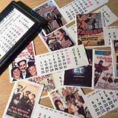 Cine: CURIOSO PEQUEÑO CALENDARIO 12 FOTOS CARTEL DE PELICULAS 1987 CINE HERMANOS MARX E T .... Lote 49494539