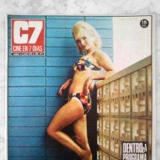 Cine: REVISTA C7 CINE EN 7 DÍAS - Nº 578 - 1972 MARIA BROCKERHOFF, NADIUSKA, GONZALO SUÁREZ, CARMEN LIAÑO. Lote 49508317