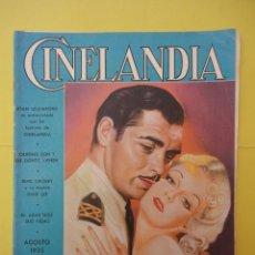 Cinema: CINELANDIA. AGOSTO 1935. TOMO IX. Nº 8.. Lote 49512583