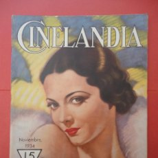 Cinéma: CINELANDIA. NOVIEMBRE 1934. TOMO VIII. Nº 11.. Lote 49512632