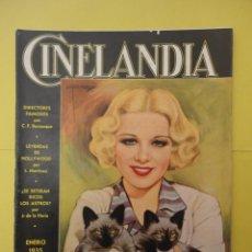 Cine: CINELANDIA. ENERO 1935. TOMO IX. Nº 1. . Lote 49512740