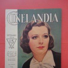 Cinéma: CINELANDIA. SEPTIEMBRE 1934. TOMO VIII. Nº 9.. Lote 49512790