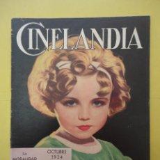 Cinema: CINELANDIA. OCTUBRE 1934. TOMO VIII. Nº 10.. Lote 49512868