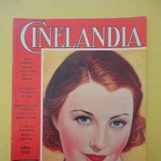 Cine: CINELANDIA. ABRIL 1935. TOMO IX. Nº 4. . Lote 49513379
