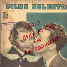 Cine: FILMS SELECTOS 1935 RUBY KEELER Y DCCK POWELL 14 HOJAS REVISTA. Lote 49621241
