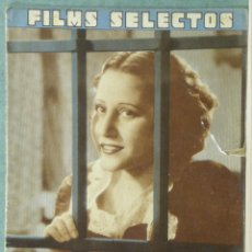 Cine: WC57 RAQUEL RODRIGO REVISTA ESPAÑOLA FILMS SELECTOS JULIO 1936 Nº 298. Lote 49691947