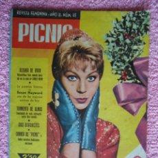 Cine: PICNIC 49 REVISTA FEMENINA 1959 FELIZ 1960 EVI NORLUND FOTONOVELA BASADA EN LA VIDA DE JAMES DEAN. Lote 49706057