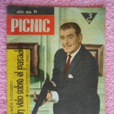 Cine: PICNIC 71 REVISTA FEMENINA 1960 CORAZÓN VENGATIVO FOTONOVELA ULTIMO EPISODIO CLARK GABLE. Lote 49717954
