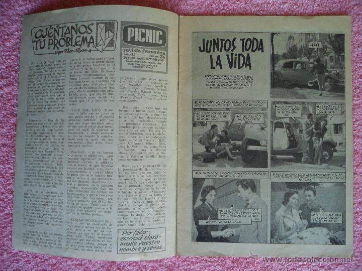Cine: picnic 74 revista femenina 1960 juntos toda la vida fotonovela completa may britt - Foto 2 - 49718195