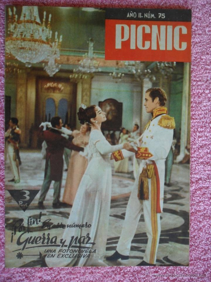 PICNIC 75 REVISTA FEMENINA 1960 FOTONOVELA GUERRA Y PAZ (Cine - Revistas - Otros)