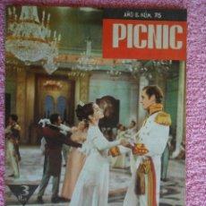Cine: PICNIC 75 REVISTA FEMENINA 1960 FOTONOVELA GUERRA Y PAZ. Lote 49718243