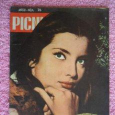 Cine: PICNIC 76 REVISTA FEMENINA 1960 GUERRA Y PAZ FOTONOVELA FINAL JACQUELINE SASSAR. Lote 49718318