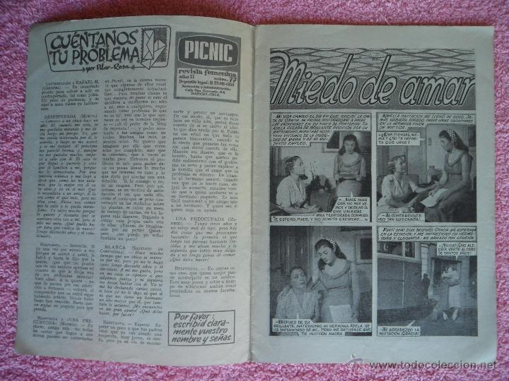 Cine: picnic 77 revista femenina 1960 miedo de amar fotonovela completa zab hunter - Foto 2 - 49718366