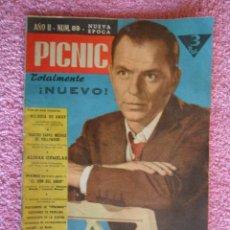 Cine: PICNIC 89 REVISTA FEMENINA 1960 MELODIA DE AMOR FRANK SINATRA. Lote 49718782