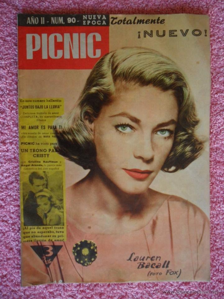 PICNIC 90 REVISTA FEMENINA 1960 JUNTOS BAJO LA LLUVIA (Cine - Revistas - Otros)