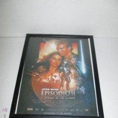 Cine: STARS WARS - EPISODIO II EL ATAQUE DE LOS CLONES - POSTER 22 X 29 ENMARCADO. Lote 49825391