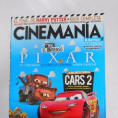 Cine: REVISTA CINEMANIA Nº 190. JULIO 2011. PIXAR CARS 2. TRANSFORMERS 3. TDKR5. Lote 49902335