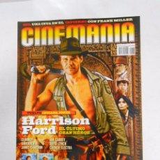Cine: REVISTA CINEMANIA Nº 138. HARRISON FORD. VUELVE INDIANA JONES. TDKR5. Lote 49902495