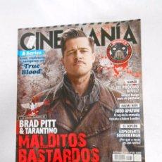 Cinema: REVISTA CINEMANIA Nº 168. SEPTIEMBRE 2009. BRAD PITT. TARANTINO. MALDITOS BASTARDOS. TDKR5. Lote 49902745