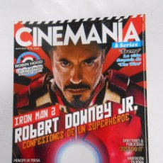 Cinema: REVISTA CINEMANIA Nº 176. MAYO 2010. IRON MAN 2. ROBERT DOWNEY JR. PRINCIPE DE PERSIA. TDKR5. Lote 49902793