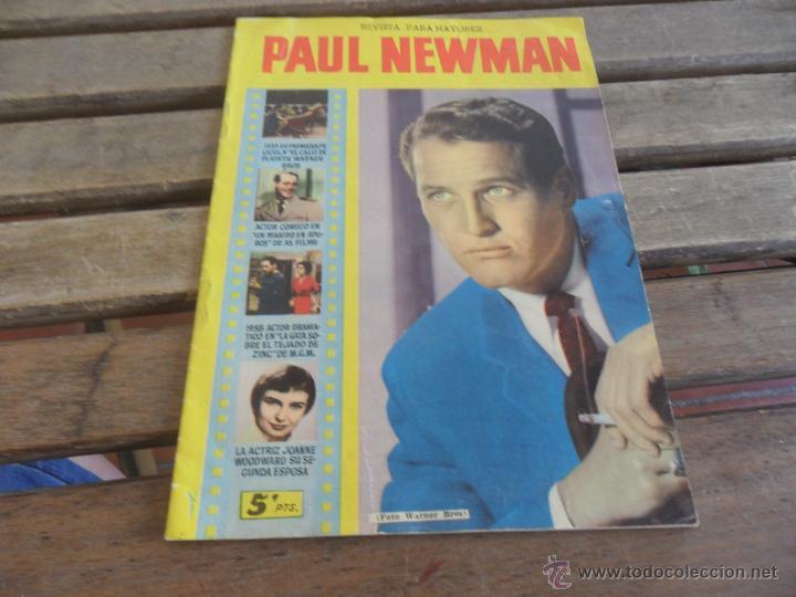 REVISTA DE EXCLUSIVAS FERMA BARCELONA ARTISTAS DE CINE PAUL NEWMAN (Cine - Revistas - Colección ídolos del cine)