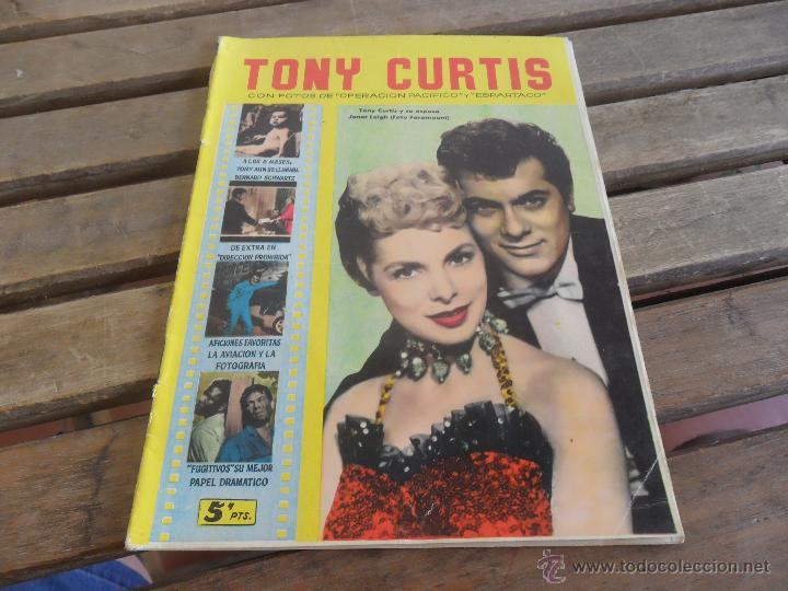 REVISTA DE EXCLUSIVAS FERMA BARCELONA ARTISTAS DE CINE TONY CURTIS (Cine - Revistas - Colección ídolos del cine)