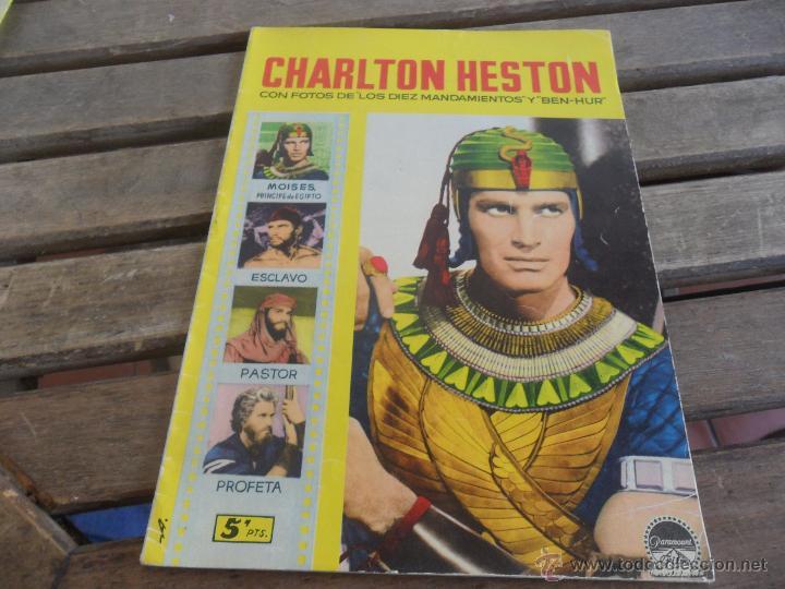 REVISTA DE EXCLUSIVAS FERMA BARCELONA ARTISTAS DE CINE CHARLTON HESTON (Cine - Revistas - Colección ídolos del cine)