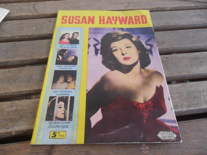 REVISTA DE EXCLUSIVAS FERMA BARCELONA ARTISTAS DE CINE SUSAN HAYWARD (Cine - Revistas - Colección ídolos del cine)