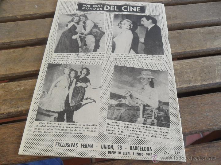 Cine: REVISTA DE EXCLUSIVAS FERMA BARCELONA ARTISTAS DE CINE ROCK HUDSON - Foto 2 - 50008599