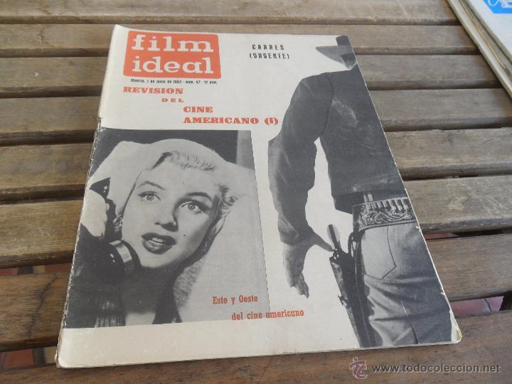 Cine: REVISTA FILM IDEAL Nº 97 AÑO 1962 ESTE Y OESTE DEL CINE AMERICANO - Foto 2 - 50008839