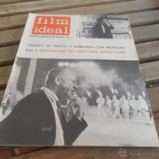 Cine: REVISTA FILM IDEAL Nº 104 AÑO 1962 NICHOLAS RAY. Lote 50008880