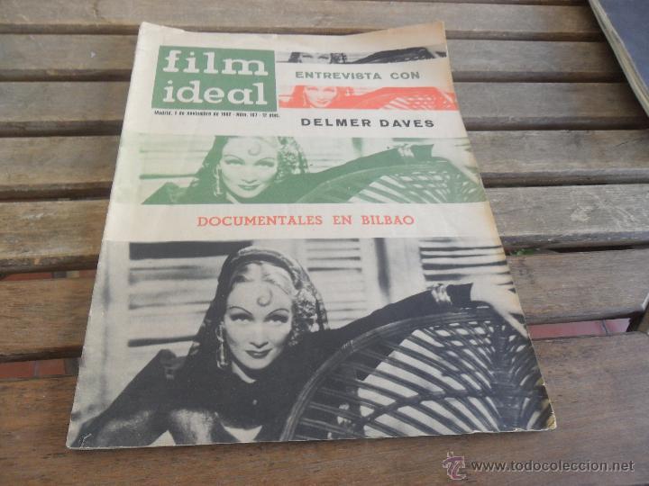 REVISTA FILM IDEAL Nº 107 AÑO 1962 DELMER DAVES (Cine - Revistas - Film Ideal)