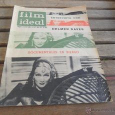 Cine: REVISTA FILM IDEAL Nº 107 AÑO 1962 DELMER DAVES. Lote 50008889