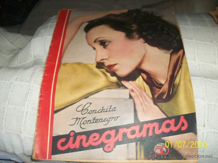 REVISTA CINEGRAMAS. CONCHITA MONTENEGRO. (Cine - Revistas - Cinegramas)