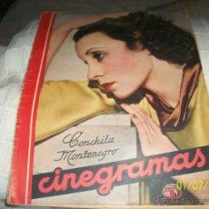 Cine: REVISTA CINEGRAMAS. CONCHITA MONTENEGRO. . Lote 50116744