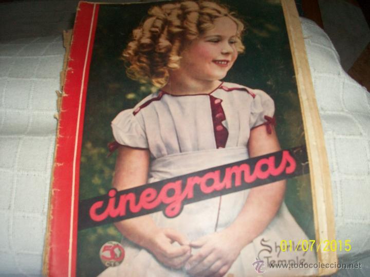 REVISTA CINEGRAMAS. SHIRLEY TEMPLE. (Cine - Revistas - Cinegramas)