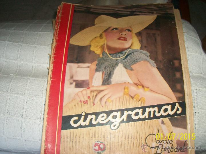 REVISTA CINEGRAMAS. CAROLE LOMBARD. (Cine - Revistas - Cinegramas)