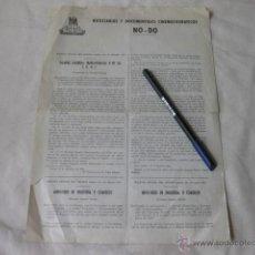 Cine: HOJA DOBLE DE LOS AÑOS 60 RECOPILANDO DECRETROS RELACIONADOS CON EL NO-DO. NODO. Lote 50237823