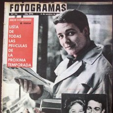 Cine: FOTOGRAMAS Nº 723 - 5 OCTUBRE 1962 BRIGITTE BARDOT JACQUES CHARRIER MARISOL. Lote 51620625