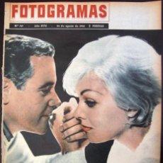 Cine: FOTOGRAMAS Nº 717 - 24 AGOSTO 1962 KIM NOVAK JACK LEMMON INGMAR BERGMAN ANA KARINA. Lote 50342229
