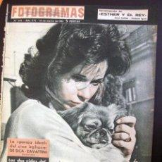 Cine: FOTOGRAMAS Nº 643 - 24 MARZO 1961 LE MASSARI JEAN GABIN MARILYN MONROE. Lote 50342535