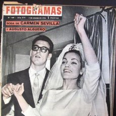 Cine: FOTOGRAMAS Nº 640 - 3 MARZO 1961 CARMEN SEVILLA MARILYN MONROE SORAYA. Lote 50342561