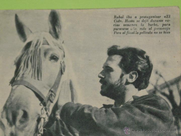 Cine: REVISTA Nº 14 COLECCION IDOLOS DEL CINE . AÑO 1958 . FRANCISCO RABAL . - Foto 2 - 50373212