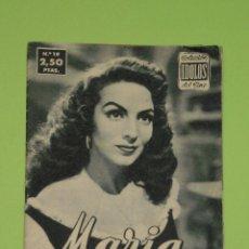 Cine: REVISTA Nº 19 COLECCION IDOLOS DEL CINE . AÑO 1958 . MARIA FELIX .. Lote 50373229