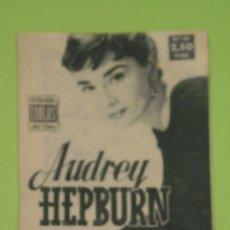 Cine: REVISTA Nº 20 COLECCION IDOLOS DEL CINE . AÑO 1958 . AUDREY HEPBURN .. Lote 239896605