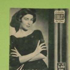 Cine: REVISTA Nº 31 COLECCION IDOLOS DEL CINE . AÑO 1958 . AURORA BAUTISTA .. Lote 50373254