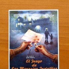 Cine: EL JUEGO DE LOS MENSAJES INVISIBLES - ANTONIO FERRANDIS, EUSEBIO PONCELA, JOSÉ LUIS LÓPEZ VÁZQUEZ. Lote 50418124