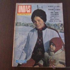 Cine: REVISTA ONDAS Nº 292 FEB. 1965 FARAH DIBA / MARISOL Y SUS VACACIONES EN LA COSTA DEL SOL. Lote 50443175
