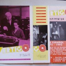 Cine: VÉRTIGO. REVISTA DE CINE. Nº 1, 2 Y 3/4. LOTE DE 3 REVISTAS. ESPAÑA 1991. 1992. ATENEO DA CORUÑA.. Lote 50480903